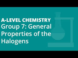 Group 7 Periodic Table Group 7 17 General Properties Of The Halogens A Level