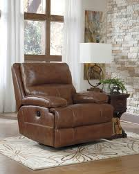 furniture catnapper hogan brown leather wall hugger recliners