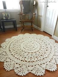 Home Decor Rugs by Crochet Doily Rug Floor Coral Salmon Alpaca Lace Large Area
