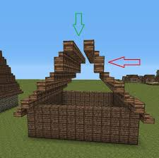 Minecraft Stairs Design How To Build A Medieval Home Nice Minecraft Pe Roof Ideas 10 On