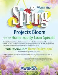 no closing cost home equity loan awakon federal credit union