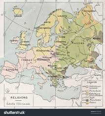 World Religions Map Old Religions Map Europe By Paul Stock Illustration 95907883