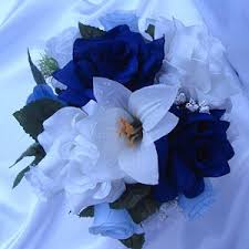 wedding flowers royal blue royal blue and silver wedding flowers