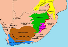 Africa Regions Map by South Africa Map