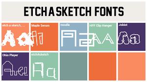 etch a sketch fonts etch a sketch regular font