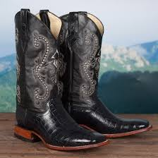 ferrini s boots size 11 black caiman belly print boot