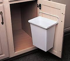 trash can attached to cabinet door door mounted kitchen garbage can kv kitchen bath storage http