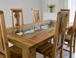 Best Oak  Glass Furniture Images On Pinterest - Dining room chairs oak