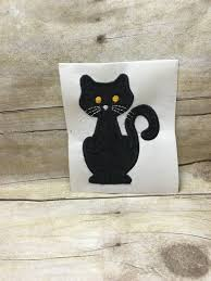 cat applique cat design kitty cat embroidery cute black cat