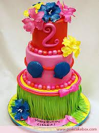 Luau Cake Decorations Children U0027s Luau Birthday Cake Birthday Cakes