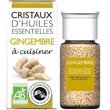 cuisiner le gingembre cristaux d huiles essentielles à cuisiner gingembre 18 g sebio
