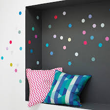 multicoloured polka dot wall sticker set by oakdene designs multicoloured polka dot wall sticker set