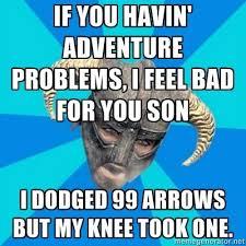 Funny Skyrim Memes - a single skyrim meme