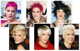 hairstyles through the years pink s hairstyles over the years which is your favorite