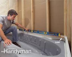 Installing Bathtub How To Install A Bathtub Install An Acrylic Tub And Tub Surround