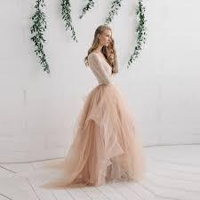 wedding skirt new fashion bridal tulle skirt chagne ivory wedding skirts