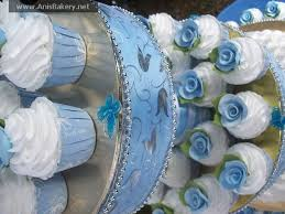 blue and white wedding cupcakes snow cake 1194089 top wedding
