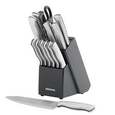 best american made kitchen knives amazon com farberware 15 piece stamped stainless steel knife
