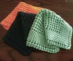 we like knitting diagonal knit dishcloth free pattern knit