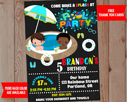 free rainbow birthday invitations waterslide birthday invitation waterslide birthday party