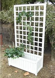 ks wooden planter boxes with trellis