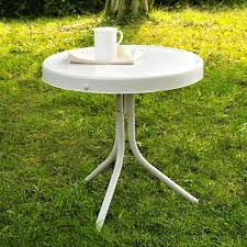 Antique Metal Patio Chairs Crosley Outdoor Retro Metal Side Table White