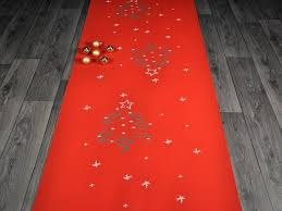 tappeti natalizi natale abete tappeto su misura