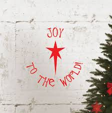 joy to the world christmas star holiday quote wall decal sticker 1338 joy to the world wall decal red