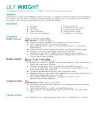 Sample Of A Customer Service Resume by Simple Customer Service Representative Resume Example Livecareer