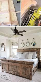 Schlafzimmer Mit Betten In Komforth E Die Besten 25 Rustikale Bettrahmen Ideen Auf Pinterest