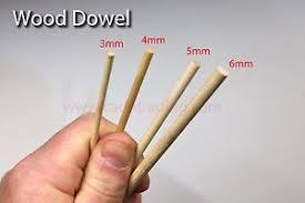 wood wooden dowel 3mm 6mm diameter 300mm length craft