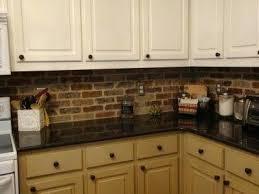 faux brick backsplash in kitchen faux brick backsplash in kitchen awesome brick in kitchen in