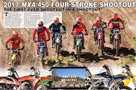 motocross action 250f shootout have you seen the 450 shootout edition of mxa aesenal mx