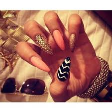 pointy nail designs polyvore
