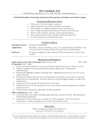 Support Technician Resume Technical Support Objective Resume Resume For Your Job Application
