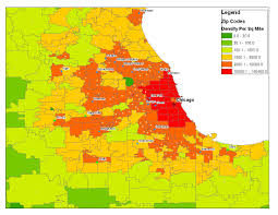 Chicago Zip Code Map by Is There A Best Way To Determine Comparative City Population