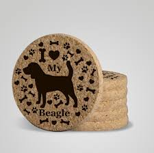 urban animal ring holder images I love my beagle quot premium coaster set add a rustic or urban jpg