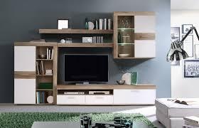 Wohnzimmerschrank Zu Verkaufen Newface Zumba Wohnwand Inklusive Led Beleuchtung Holz Sandeiche