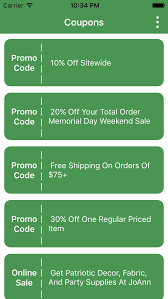 joanns coupon app coupons for joann s fabric s stores inc app apps 148apps