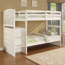 White Bunk Bed With Trundle White Bunk Beds With Stair Trundle White Bunk Beds With Stairs