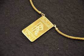 custom gold necklace 18k gold diamonds rolls royce pendant and necklace