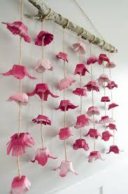 boho flower wall hanging made from egg cartons egg cartons egg