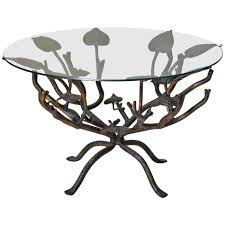 coffee table with iron base round glass top coffee table wrought iron round designs