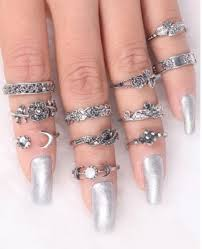 knuckle rings silver images Jewels girly knuckle ring rings cute summer ring silver ring jpg
