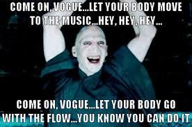 Harry Potter Meme - voldemort does the vogue harry potter know your meme