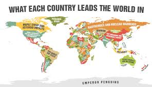 World Map Cartoon by This Hilarious World Map Shows What Every Country Is Best At Narcity