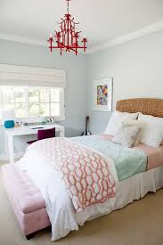 baroque wicker headboard in kids beach style with teen bedroom