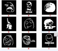Internet Faces Meme - assorted internet meme 4chan reddit faces decal sticker free