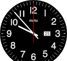 modern wallclock for moto 360 facerepo