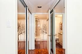 Fabric Closet Doors Affixing Fabric To Mirrored Closet Doors Thriftyfun